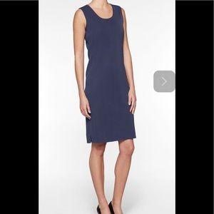 Ming Wang M Navy sheath knit dress $210 New